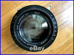 Wollensak Betax No. 5 Vintage Camera Lens for 8x10 Gundlach Radar Anastigmat F4.5