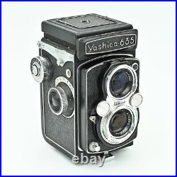 Yashica 635 Twin Lens Reflex TLR 120 6x6 & 35mm Film Camera. Exc Value