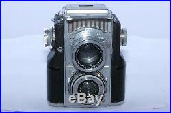 Zeiss Contaflex TLR 35mm camera. CZJ Tessar 5cm f2.8 lens. Original Case. Workin