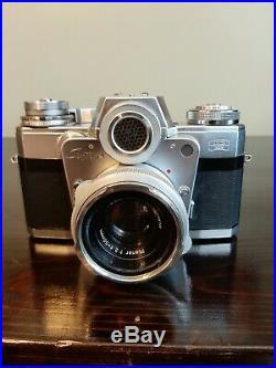 Zeiss Ikon Contarex Bullseye camera Z-17705 with Zeiss Planar Lens 12 50mm case