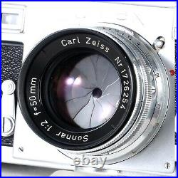 Zeiss Ikon Contax IIa 35mm Rangefinder Camera with Sonnar 50mm f2 Lens