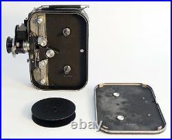 Zeiss Ikon Movikon-16 film camera, (4) Zeiss lenses, 2 hoods, filters, case +++