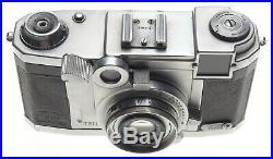 Zeiss Ikon TENAX Tessar 2.8 f=40mm lens 12.8/40 cased 35mm film vintage camera